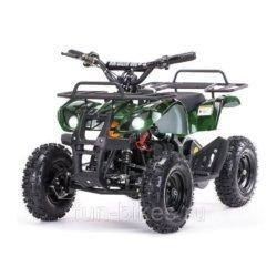 Детский квадроцикл на аккумуляторе MOTAX Mini Grizlik Х-16 мощностью 1000W зеленый-камуфляж (пульт контроля, до 30 км/ч)